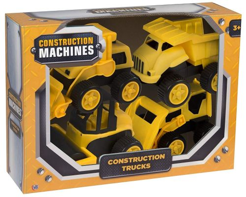 Construction Tractor Dump Truck Bulldozer Front Loader Kids Toy Gift